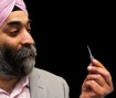 Ocular CEO Amar Sawhney—Holding the Company's Tiny Drug Delivery Device for the Eye—May Have the Answer to Effective Treatments for Glaucoma and Other Ophthalmic Diseases